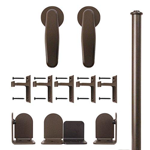 34 in To 1-12 in Vista Oil Rubbed Bronze Rolling Door Hardware Kit-Quiet Glide
