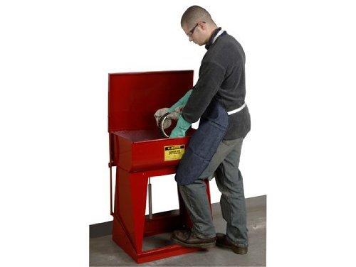 Justrite 27110 18-Gauge Coated Steel Floor Standing Rinse Tank 11 Gallon Capacity 24 Length x 16 Width x 8-34 Depth