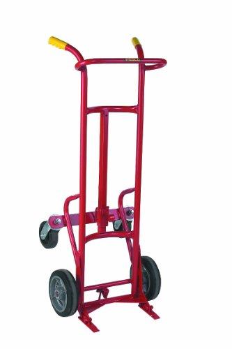 Wesco 240121 Steel Ergonomic Drum Truck Moldon Rubber Wheels 1000-lb Load Capacity 24 Width x 58 Height x 21 Depth