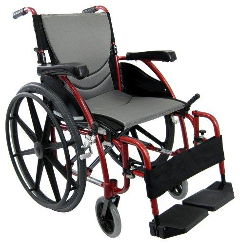 Karman Healthcare Ergonomic Wheelchair S-115 Mag Wheels Rose Red 20 x 17 27 Pound