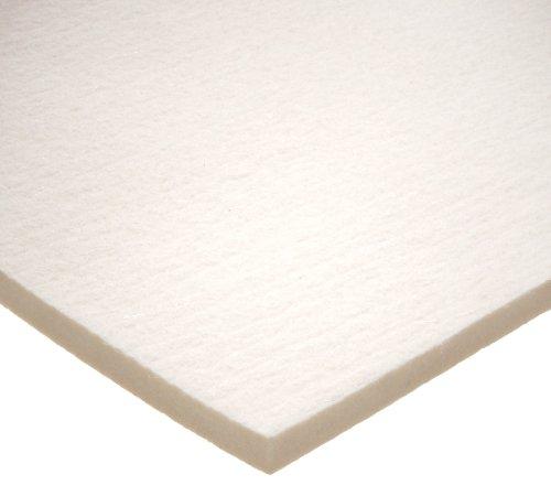 Grade F1 Pressed Wool Felt Sheet White Meets SAE J314 38 Thickness 12 Width 12 Length