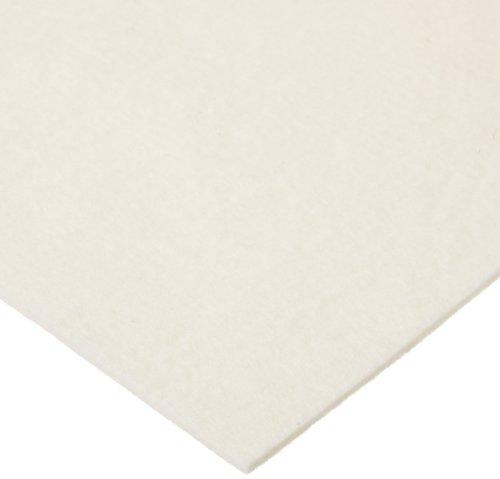 Grade F10 Pressed Wool Felt Sheet White Meets SAE J314 18 Thickness 12 Width 12 Length