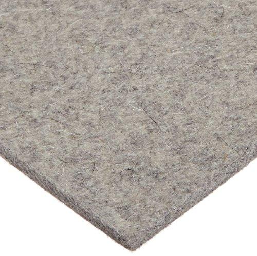 Grade F3 Pressed Wool Felt Sheet Gray Meets SAE J314 14 Thickness 12 Width 60 Length