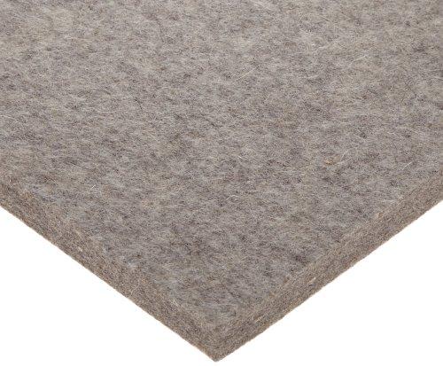 Grade F3 Pressed Wool Felt Sheet Gray Meets SAE J314 316 Thickness 12 Width 12 Length