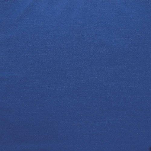 Visual Textile Rectangular Royal Blue Spun Polyester Tablecloth - 72W x 120L