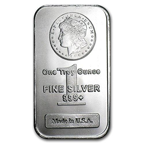 NEW Sealed in Plastic Morgan Design 1 oz Silver Bar
