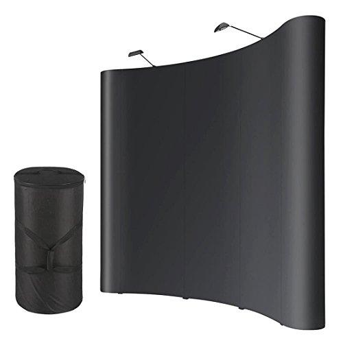 10x8ft PVC Trade Show Popup Display Booth Aluminum w Case 2 Halogen Spotlights