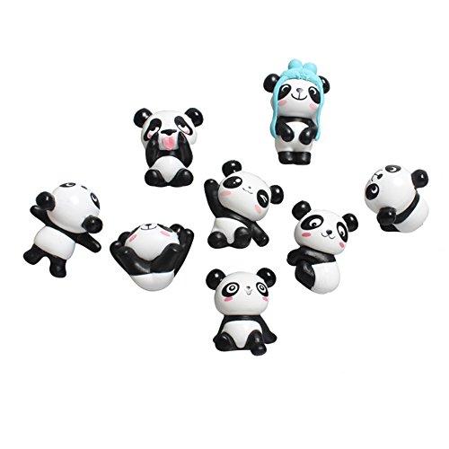 Liitrton 8 Pack PVC Cut Panda Fridge Magnets Cartoon Stereo Refrigerator Magnets for Message