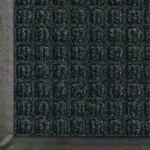 Andersen 200 WaterHog Classic Polypropylene Fiber Entrance IndoorOutdoor Floor Mat SBR Rubber Backing 5 Length x 3 Width 38 Thick Charcoal