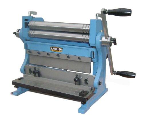 Baileigh SBR-1220 3-in-1 Combination Shear Brake Roll Machine 12 Bed Width 20-Gauge Mild Steal Capacity