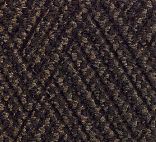 MA Matting 296 Waterhog DiamondCord Polypropylene Fiber InteriorScraper Wiper Floor Mat SBR Rubber Backing 3 Length x 2 Width 38 Thick Brown Cord