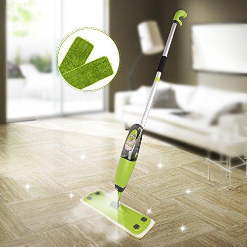 Floor Mop- Professional 360 Degree Microfiber Spray Mop- Detachable Handle Mop for House Kitchen Hardwood- Tile Floor Cleaning