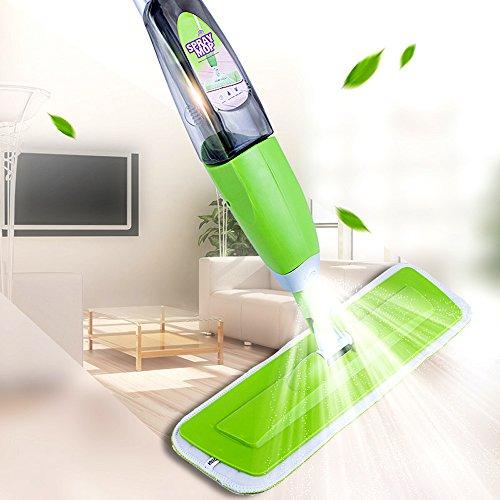 MangGou Microfiber Floor Mop Professional 360 Degree Microfiber Spray Mop Handle Mop for House Kitchen Hardwood Tile Floor Cleaning