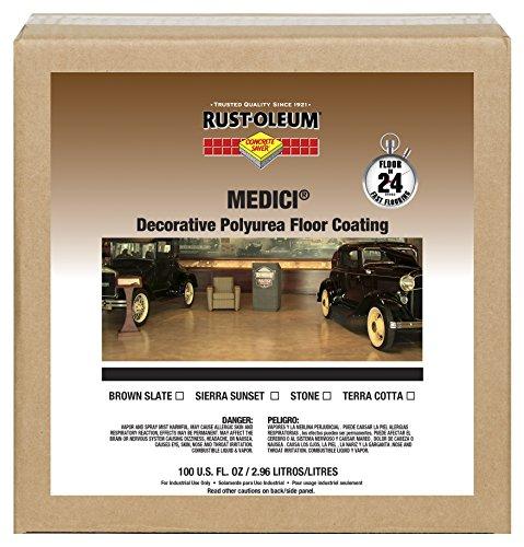 Rust-Oleum 280939 Brown Slate Concrete Saver Medici Decorative Floor Coating 1 gal Can