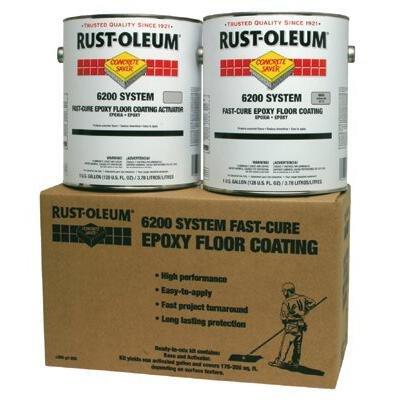 Rust-Oleum 6200 System 250 Voc Fast-Cure Epoxy Floor Coating Silver Gallon Kit