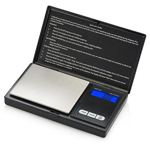Smart Weigh SWS100 Elite Series Digital Pocket Scale 100g by 001g Black
