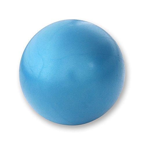 LIPOVOLT 20cm Yoga Ball Matte Surface Exercise Gymnastic Fitness Pilates Balance Stability Ball Blue