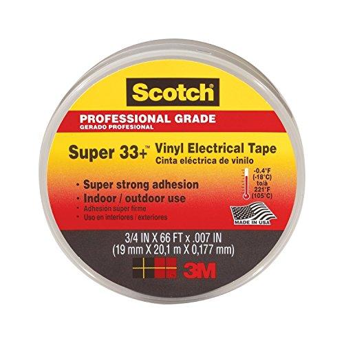 3M Scotch Super 33 Vinyl Electrical Tape 75 Inch 66-Feet 6-Pack