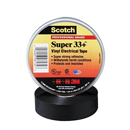Scotch Super 33 Vinyl Electrical Tape 34 in x 66 ft