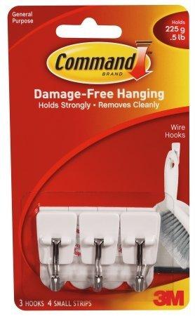 3M Command Small Wire Hooks 12-Hooks