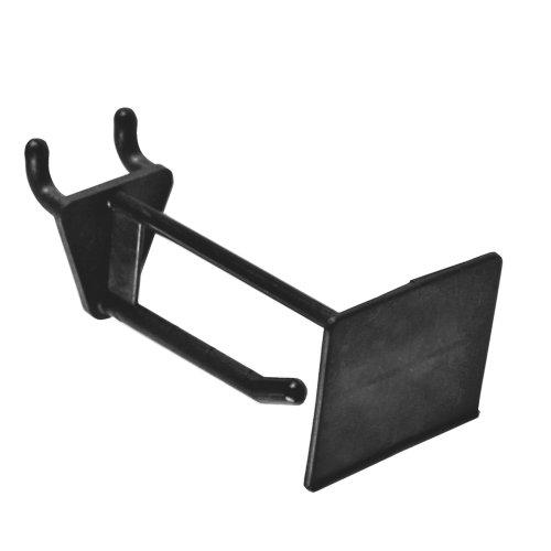 Azar 800012-BLK 2-Inch Glass Filled Nylon Pegboard Scan Hook Black 50-Pack