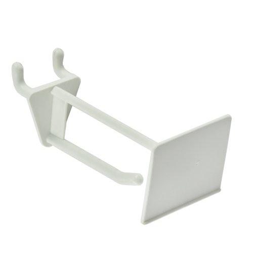 Azar 800012-WHT 2-Inch Glass-Filled Nylon Pegboard Scan Hook White 50-Pack