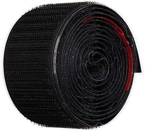 VELCRO 1005-AP-PSAH HOOK TYPE Black Nylon Woven Fastening Tape Pressure Sensitive Adhesive Back 1-12 Wide 5 Length