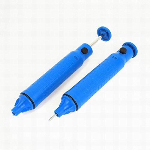 MariaP Sucking Vacuum Desolder Pump Solder Sucker Remover Tool Blue Pack of 2