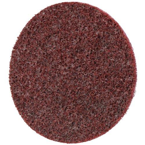 Scotch-Brite Roloc Surface Conditioning Disc TSM Aluminum Oxide 3 Diameter Medium Grit Pack of 100