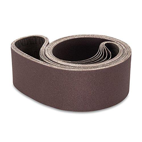 2 X 48 Inch 150 Grit Aluminum Oxide Metal Sanding Belts 6 Pack