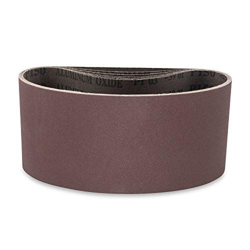 4 X 21 34 Inch 150 Grit Aluminum Oxide Premium Quality Metal Sanding Belts 6 Pack