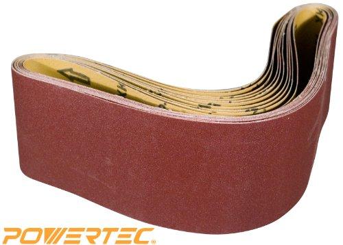POWERTEC 110140 4-Inch x 36-Inch 150 Grit Aluminum Oxide Sanding Belt 10-Pack
