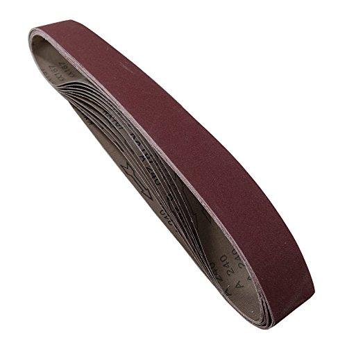 POWERTEC 424215A 2-Inch x 42-Inch 150 Grit Aluminum Oxide Sanding Belt 10-Pack