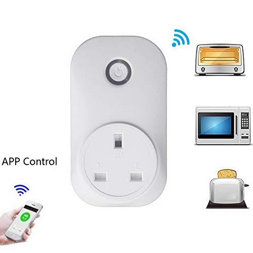 Loweryeah WiFi Wireless Remote Socket Smart Timer Plug Smart Home Outlet Power Socket EU US UK Standard Via App Phone