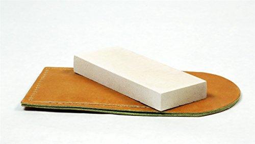 RH Preyda Hard Arkansas Pocket Stone 4 x 1 x 38 inches Leather Pouch