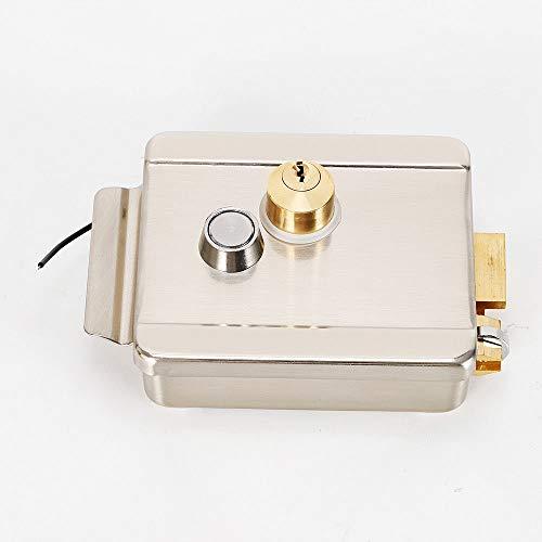 Electric Control Door Lock Home Security Lock for Doorbell Intercom Access Remote Control DC12V