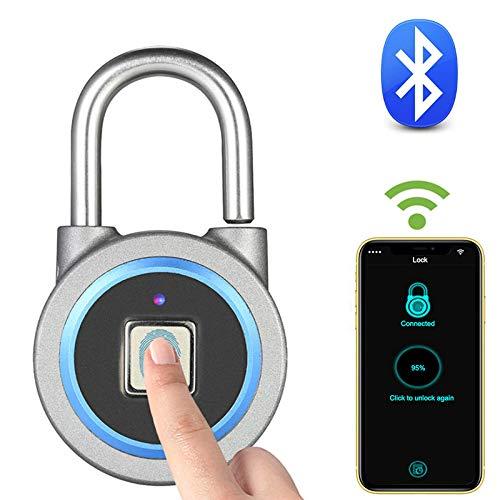 HLL Bluetooth Fingerprint LockPortable Keyless Smart USB Electric Lock IP65 Waterproof Bag Luggage Case Phone APP Control Lock
