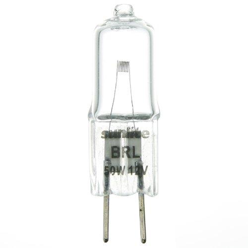 Sunlite BRLBCD 50WT312VCLGY635 50-watt 12-volt Bi-Pin Based Stage and Studio T3 Bulb Clear