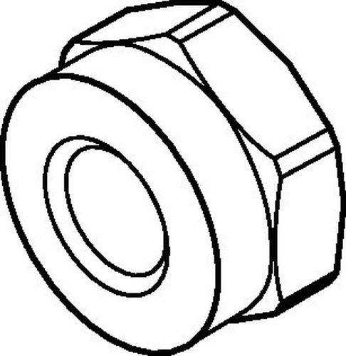 WIDIA Erickson NPA238Locknut for DA 08 Double-Angle Collet Chucks DA200 NOSEPIECE ASSYDP FL HL 094 Diameter