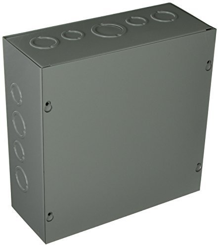 Hoffman ASE10X10X4 Pull Box Screw Cover with Knockouts Steel 10 x 10 x 4 Gray