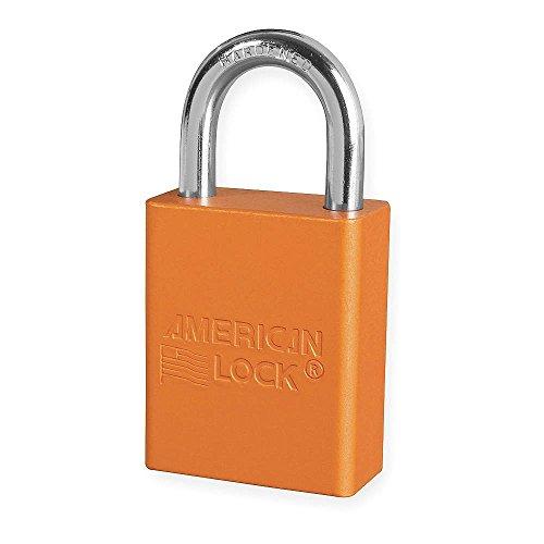 American Lock Orange 1 12 X 34 Aluminum 5 Pin Safety Lockout Padlock With 14 X 34 X 1 Shackle 6 Locks Per Set 6 Sets Keyed Alike