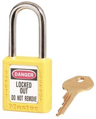 Hardware Express 410YLW Safety Lockout Padlock - Yellow