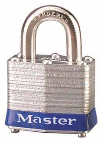 Master Lock 3BLU No 3 Safety Lockout Padlock Steel Body Blue Bumper