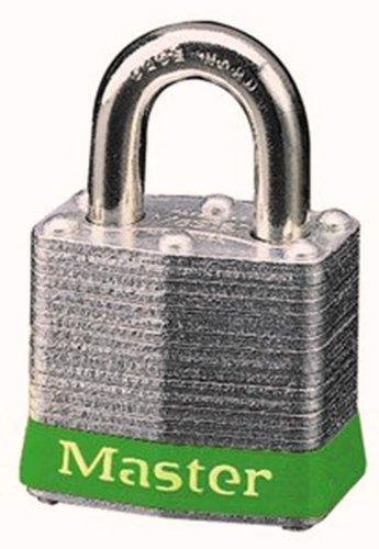 Master Lock 3GRN No 3 Safety Lockout Padlock Steel Body Green Bumper
