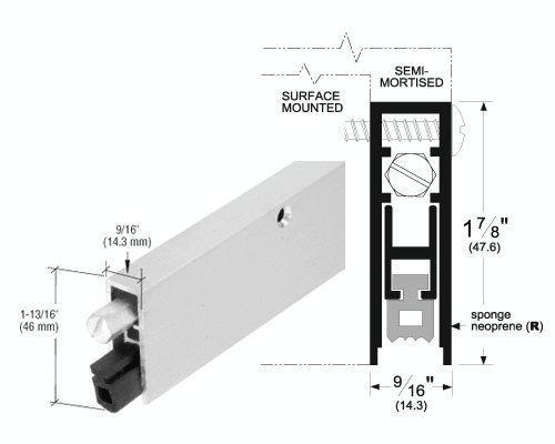 Aluminum Finish Commercial Medium-Duty Automatic Door Bottom for 32 Door