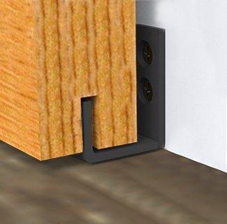 HomeDeco Hardware New Style Sliding Barn Door Hardware Door Bottom Floor Guide wall Guide Screws