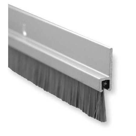 Pemko Brush Door Bottom Sweep Clear Anodized Aluminum with 0625 Gray Nylon Brush insert 025 Width 1375 H x 48 L