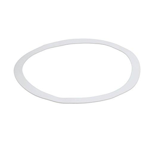uxcell DN300 325mmx378mmx3mm PTFE Flat Washer Gasket White
