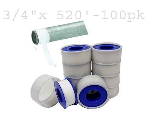 100 Pack 34 X 520 Teflon Thread Seal Tape Plumbing Plumber Plumbers ATE Tools