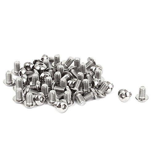 M4x07mmx6mm Stainless Steel Button Head Hex Socket Cap Screws 50 Pcs